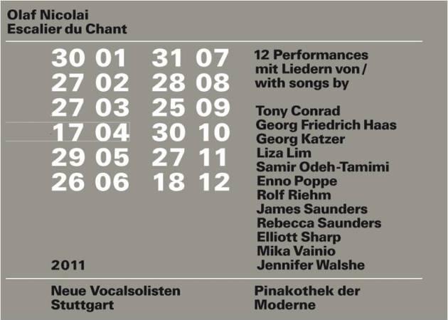 Olaf Nicolai - Escalier du Chant, Soundinstallation in der ...